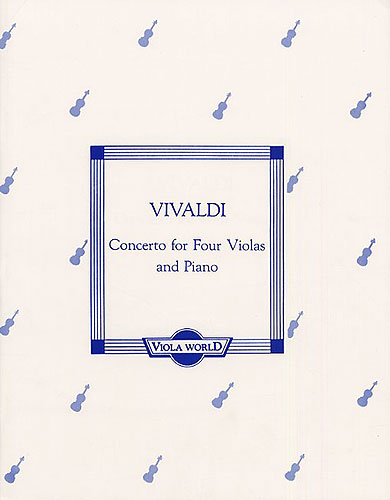 Antonio Vivaldi: Concerto for Four Violas and Piano: Viola Ensemble: Score and