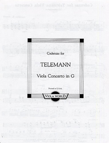 Alan Arnold: Cadenzas For Telemann Viola Concerto In G: Viola: Instrumental Work