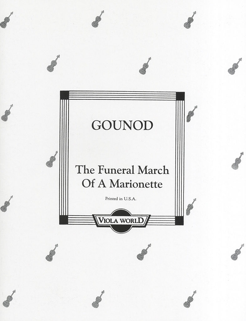 Charles Gounod: The Funeral March Of A Marionette: Viola: Instrumental Work