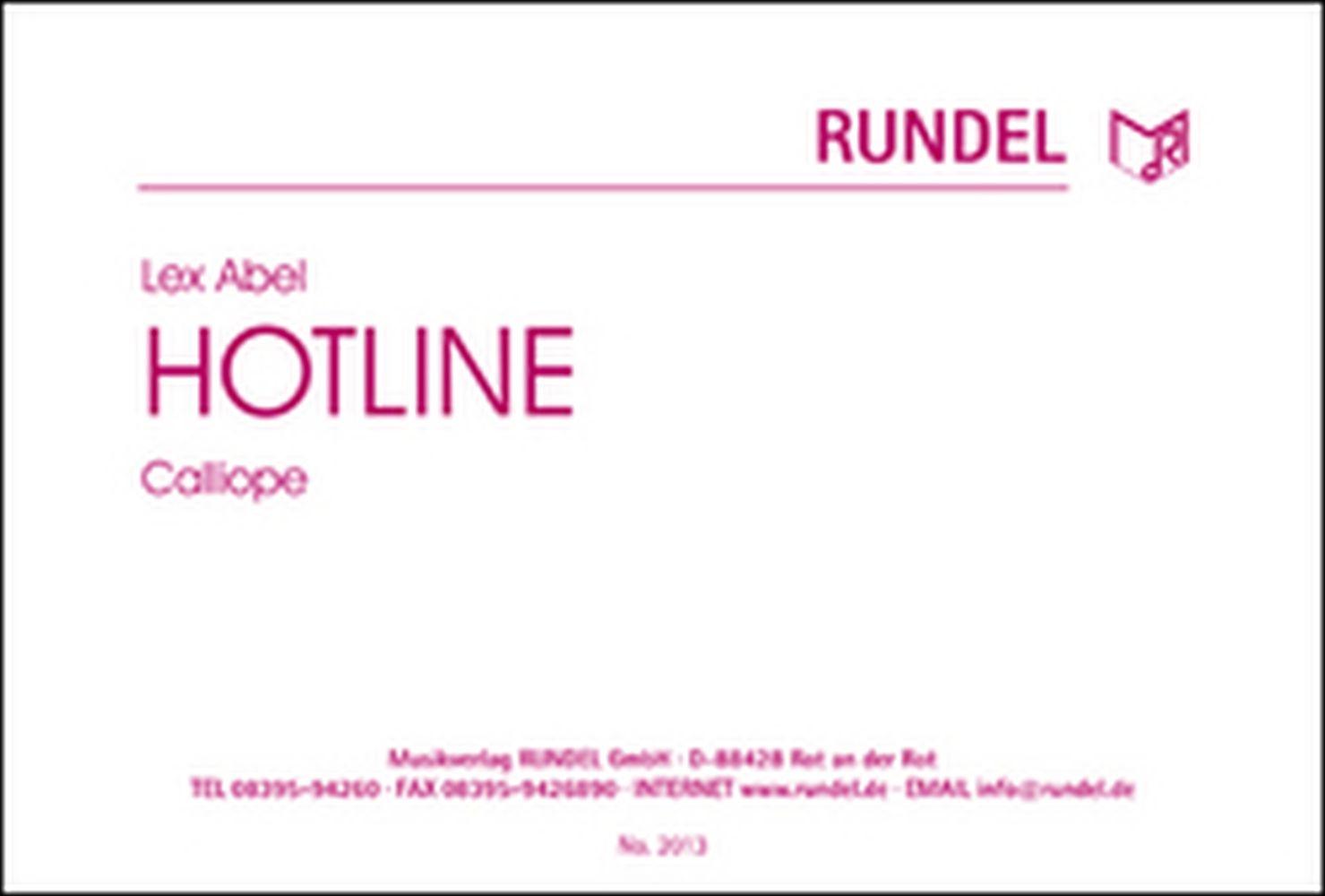 Lex Abel: Hotline: Concert Band: Score and Parts