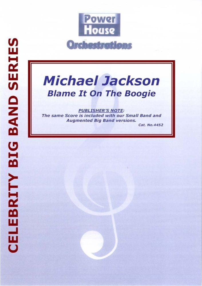 Michael Jackson: Blame It On The Boogie: Jazz Ensemble: Score and Parts