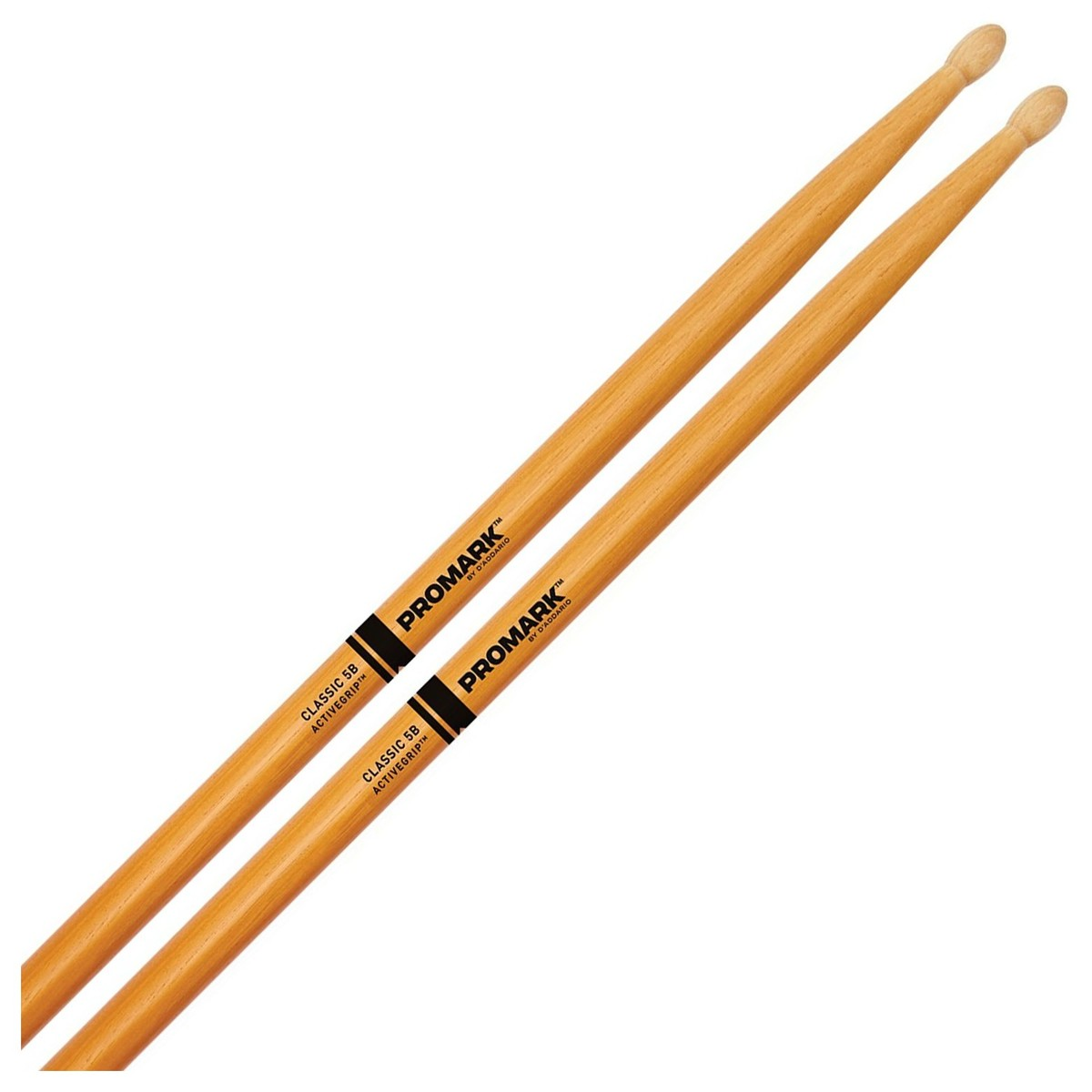 Classic 5B Active Grip Clear: Drumsticks