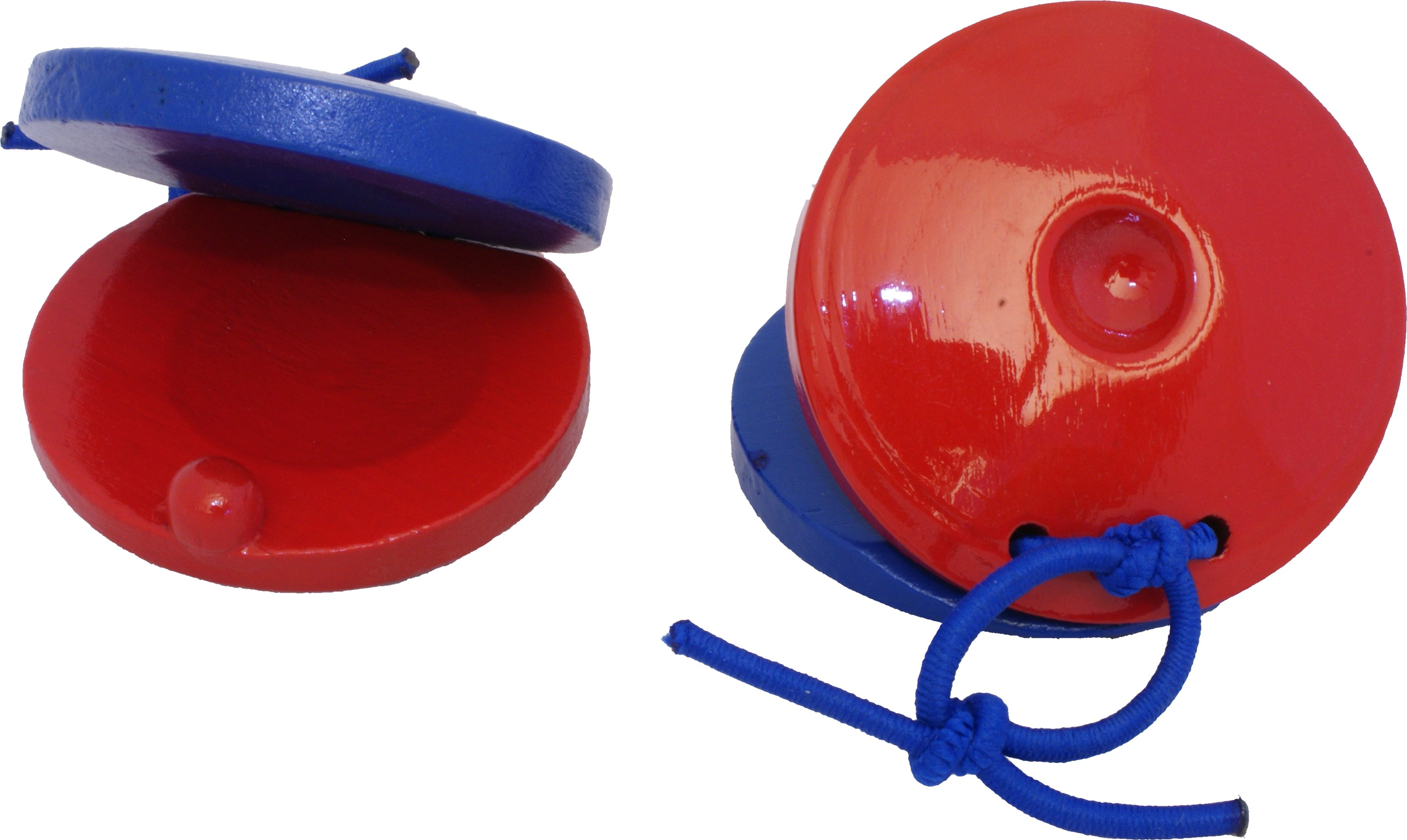 Pair Of Wooden Castanets: Percussion