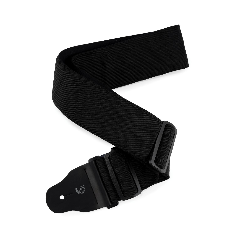 3 Inch 75mm Wide Nylon Bass Guitar Strap Black: Strap