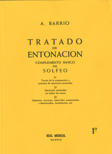 Adelino Barrio: Tratado de Entonación 1°: Theory