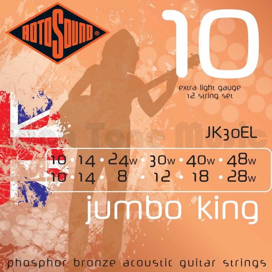 12 String Acoustic Guitar Phosphor Bronze Strings: Strings