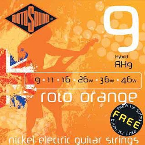 Hybrid Electric Guitar String Set Roto Orange: Strings