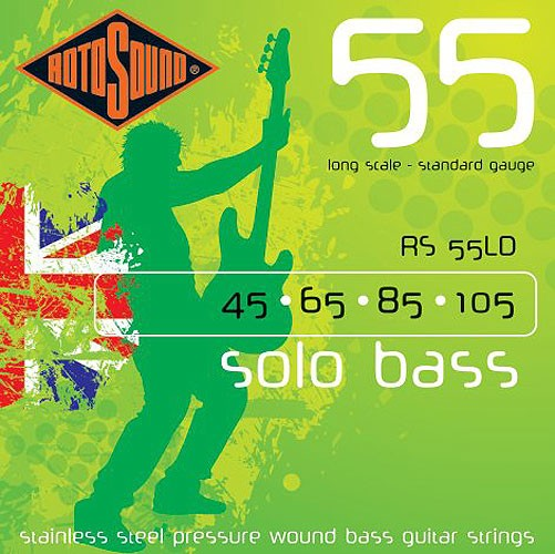 Solo Bass 55 Pressure Wound Bass Strings 45-105: Strings