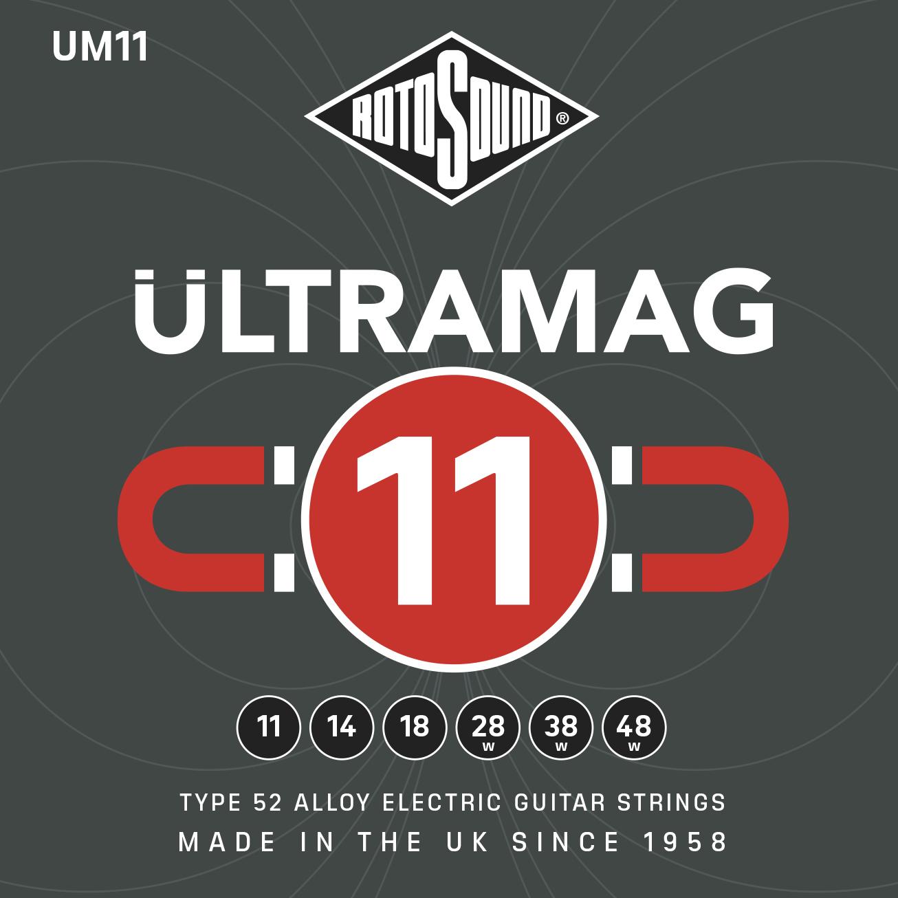 Rotosound UM11 Ultramag Guitar Strings: Strings