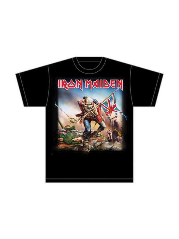 Iron Maiden Trooper Mens T Shirt Large: Clothing