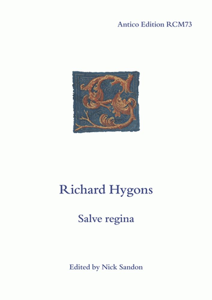 Richard Hygons: Salve Regina: Mixed Choir: Vocal Score