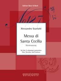 Alessandro Scarlatti: Messa di Santa Cecilia: SATB: Vocal Score