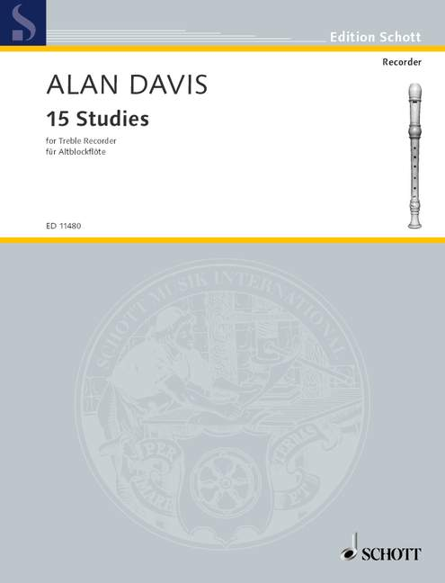 Alan Davis: Studies(15): Treble Recorder: Score