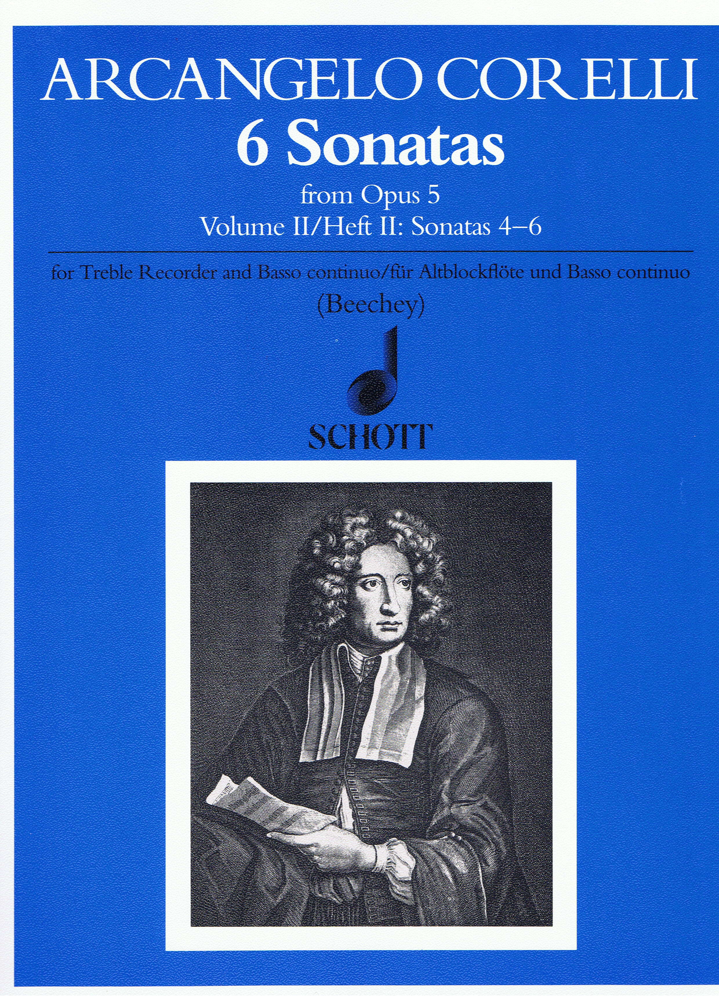 Arcangelo Corelli: Sonaten(6) 2 Op.5: Treble Recorder: Score and Parts