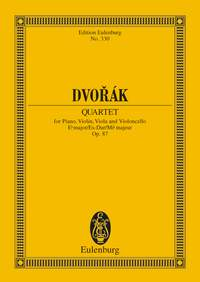 Antonín Dvořák: Piano Quartet In E Flat Major Op. 87 B 162: Piano Quartet: