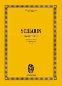 Alexander Scriabin: Prometheus Op.60: Orchestra: Miniature Score