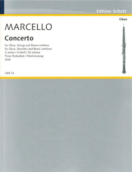 Alessandro Marcello: Concert D: Oboe: Score and Parts