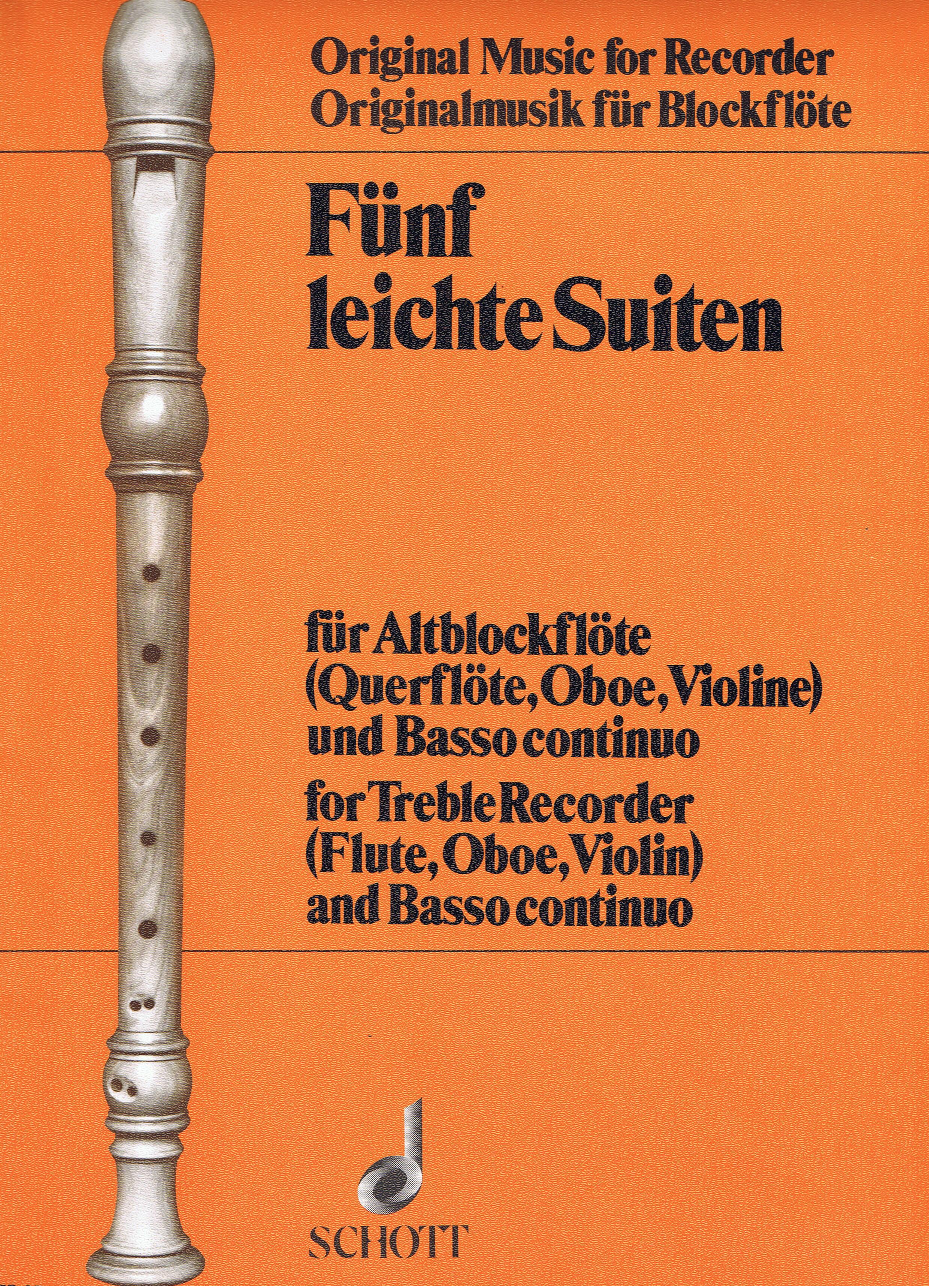 5 Leichte Suiten: Treble Recorder: Score and Parts