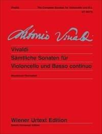 Antonio Vivaldi: Complete Sonatas For Cello: Cello: Instrumental Work