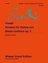 Antonio Vivaldi: Sonatas For Violin And Basso Continuo Op. 2: Violin: