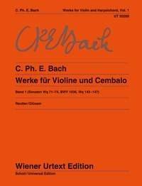 Carl Philipp Emanuel Bach: Sonatas Band 1: Violin: Instrumental Work