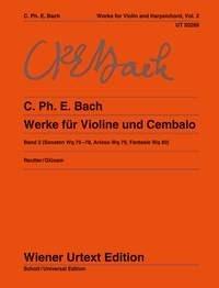 Carl Philipp Emanuel Bach: Sonatas Band 2: Violin: Instrumental Work