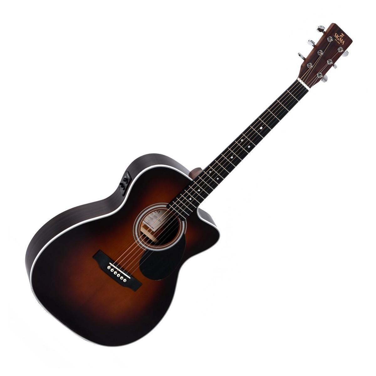 OMTC-1STE+ Electro Acoustic Guitar Sunburst: Acoustic Guitar