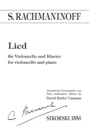Sergei Rachmaninov: Lied: Cello: Instrumental Work