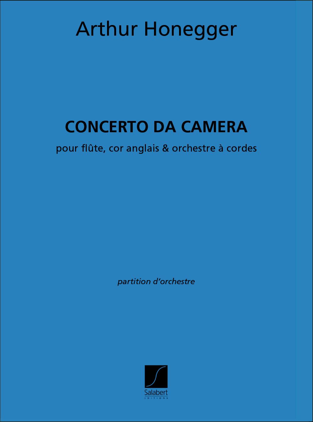 Arthur Honegger: Concerto Da Camera Partition Flute Cor-Ang. Et: Orchestra