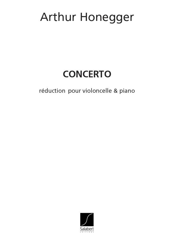 Arthur Honegger: Concerto: Cello