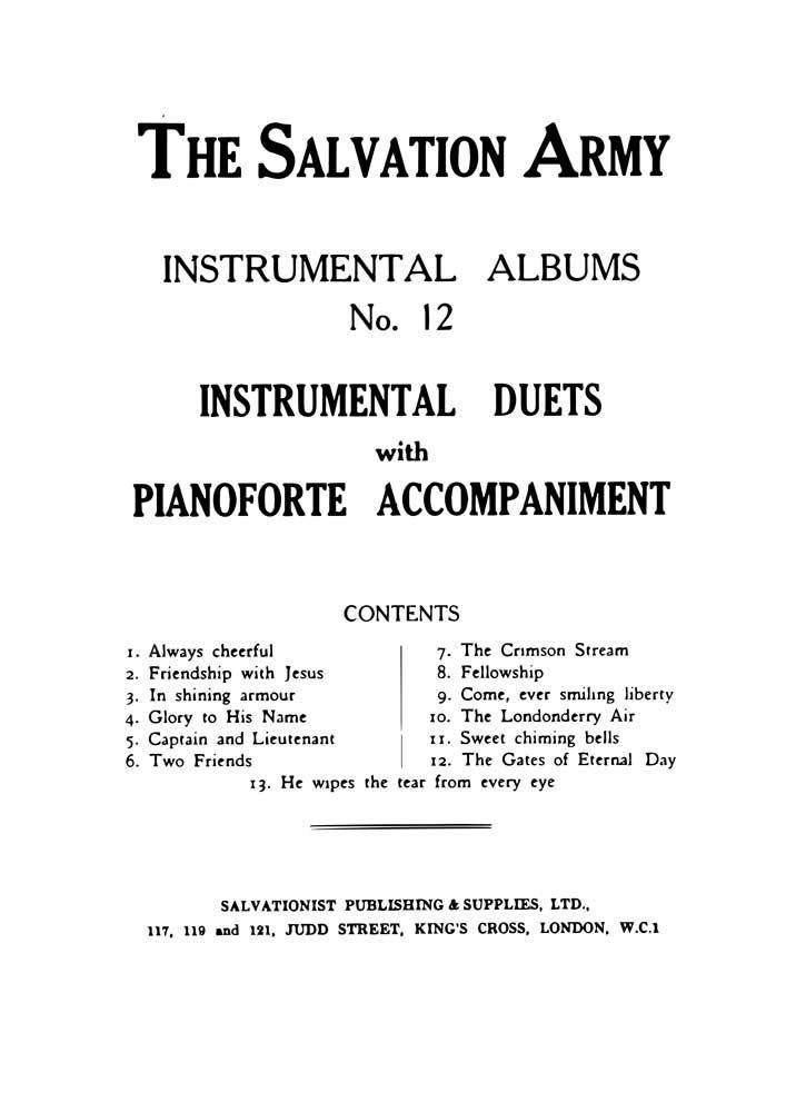 Instrumental Album No. 12: Mixed Duet: Instrumental Album