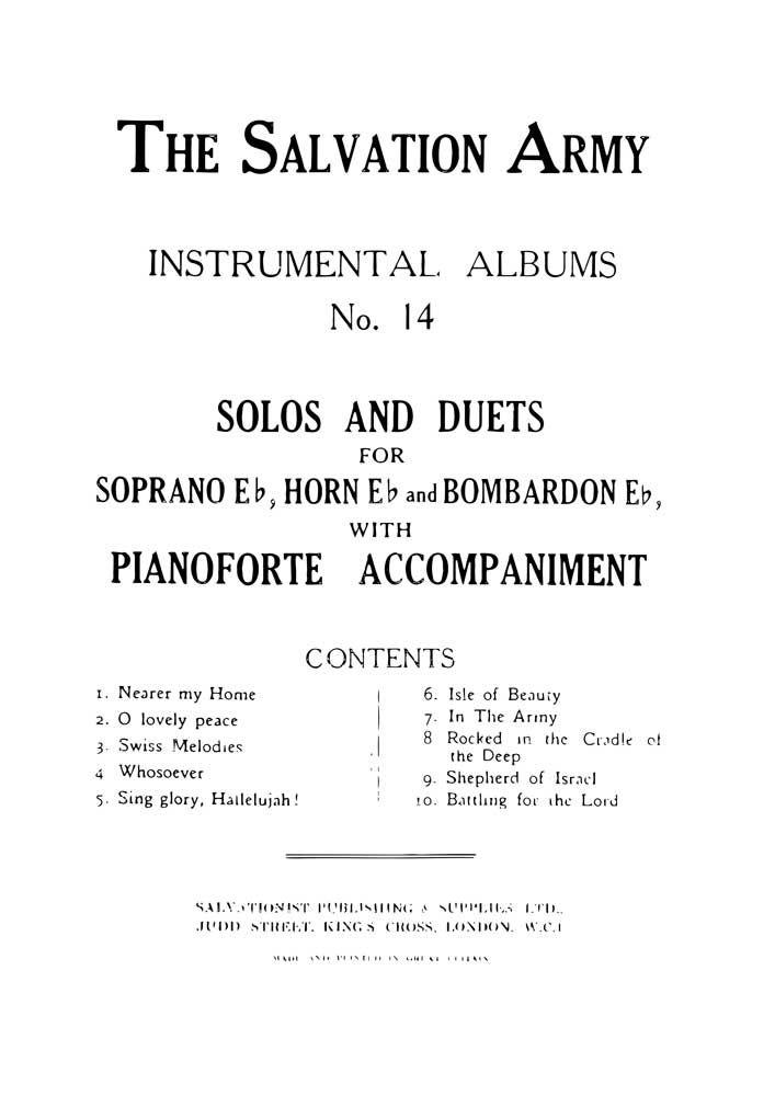 Instrumental Album No. 14: Brass Ensemble: Score and Parts