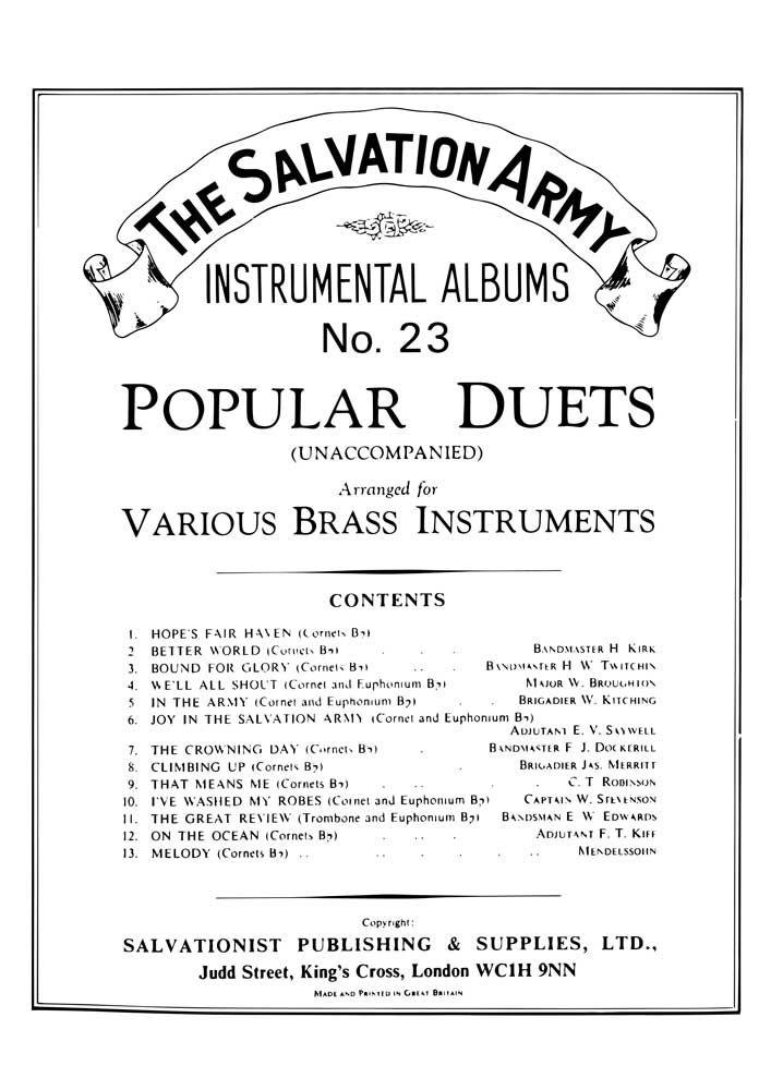 Instrumental Album No. 23: Brass Instrument: Instrumental Album