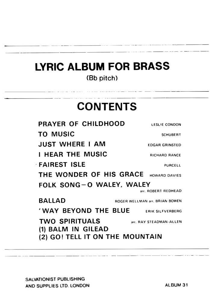 Instrumental Album No. 31: B-Flat Instrument: Instrumental Album