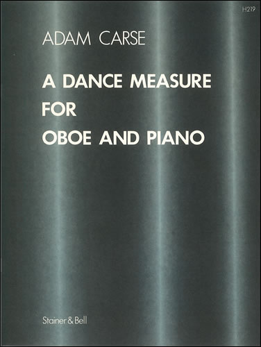 Adam Carse: A Dance Measure for Oboe and Piano: Oboe: Instrumental Work