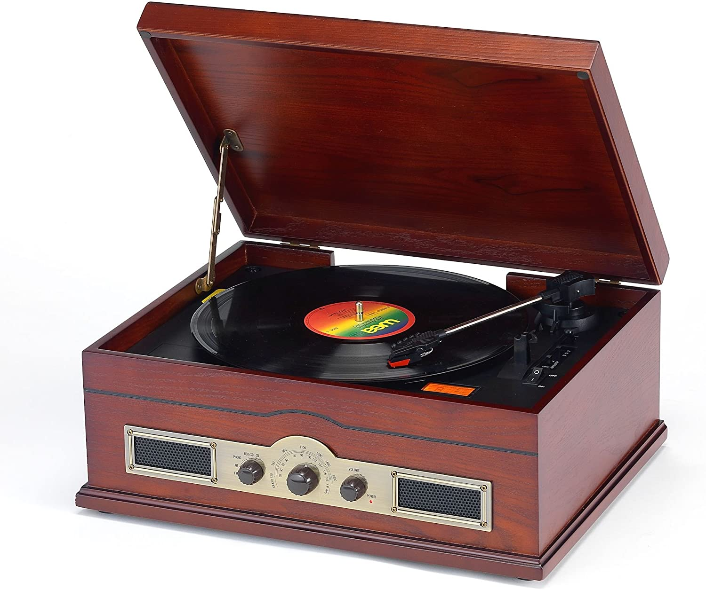 NORFOLK Dark Cherry Record Player: Record Player
