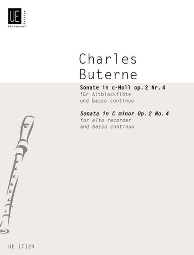 Charles Buterne: Sonata: Recorder Ensemble: Instrumental Work