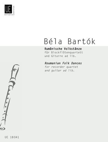 Béla Bartók: Roumanian Folk Dances: Recorder Ensemble: Score and Parts