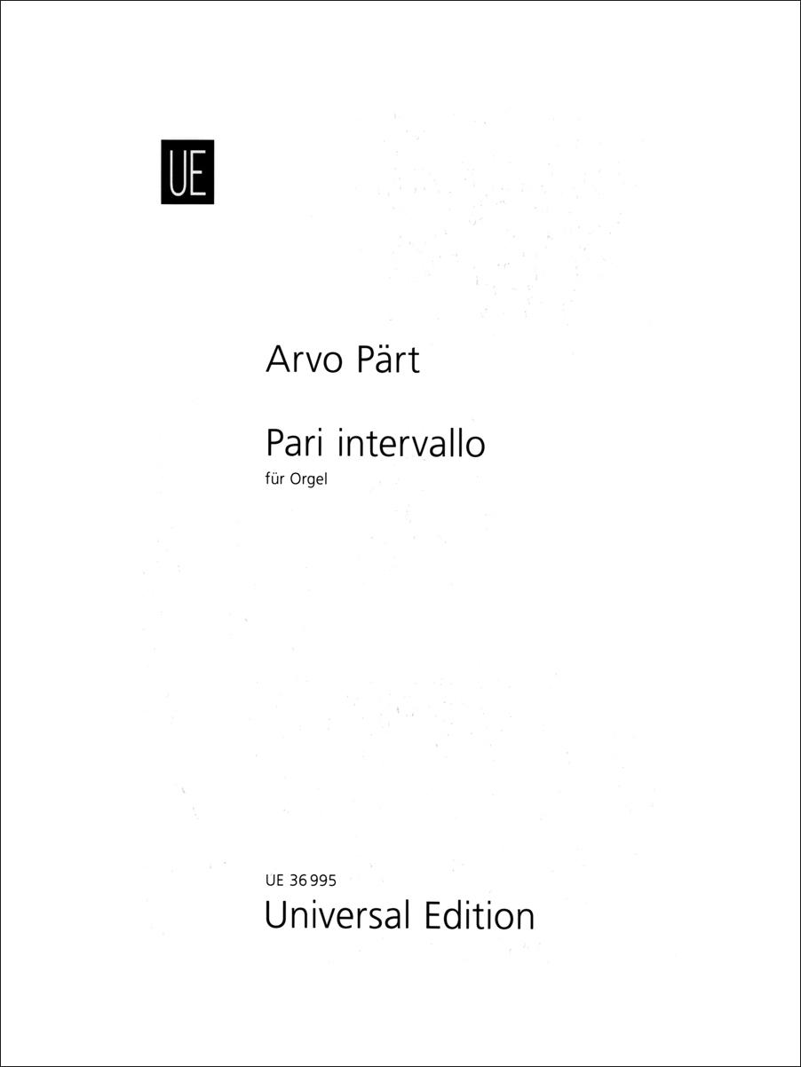 Arvo Pärt: Pari intervallo: Organ: Instrumental Work