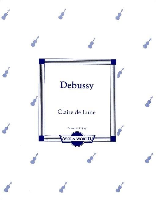 Claude Debussy: Clair De Lune: Viola: Instrumental Work