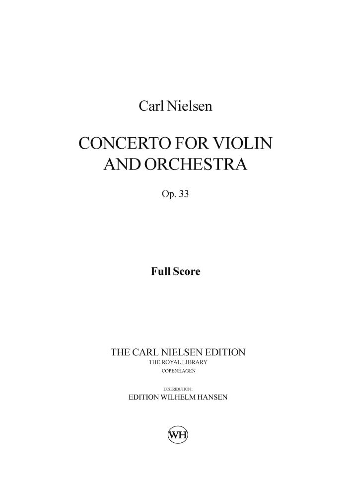 Carl Nielsen: Concerto For Violin And Orchestra Op.33: Violin: Score
