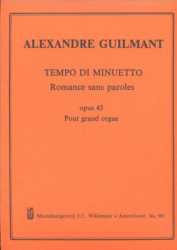 Alexandre Guilmant: Tempo Di Minuetto Romance Sans Paroles Opus 45: Organ: