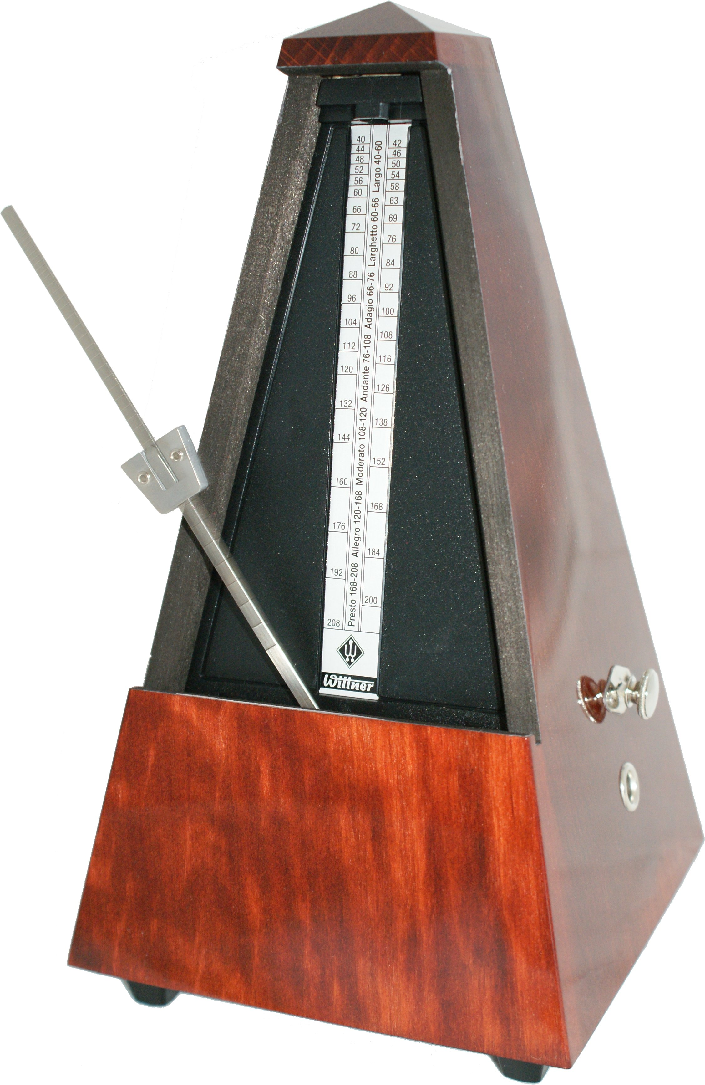 Metronome Wooden Mahogany Colour With Bell: Metronome