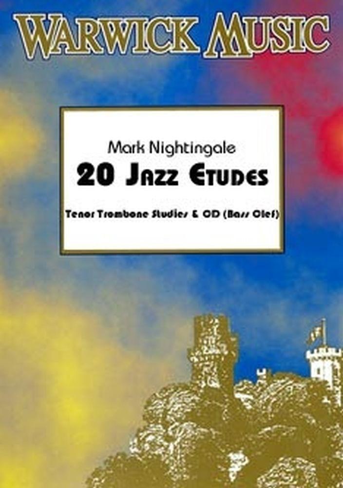Mark Nightingale: 20 Jazz Etudes (Tenor Trombone) - Sheet Music CD
