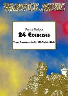Denis Aplvor: 24 Exercises (treble clef): Trombone: Study