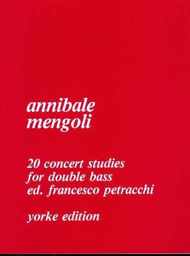 Annibale Mengoli: 20 Concert Studies For Double Bass: Double Bass: Instrumental