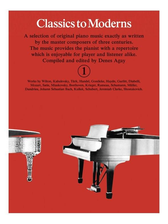 Denes Agay: Classics To Moderns 1: Piano: Instrumental Album