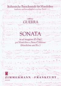 Addiego Guerra: Sonata in sol maggiore (G-Dur): Mandolin: Score and Parts