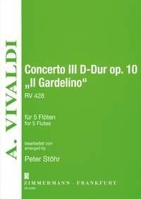 Antonio Vivaldi: Concerto III D-Dur Il Gardelino: Flute Ensemble: Instrumental