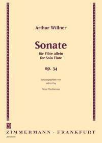 Arthur Willner: Sonate op. 34: Flute: Instrumental Work